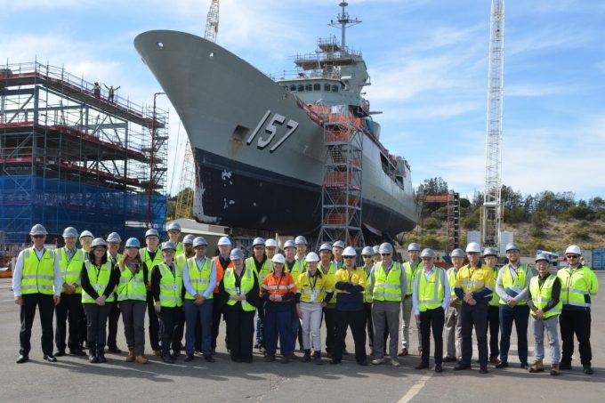 Tour of BAE Systems' Henderson Shipyard