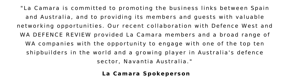 La Camara Partners with Defence West and WA DEFENCE REVIEW